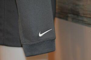 NIKE GOLF DRI-FIT Medium Men's L/S Polyester Polo Shirt Gray