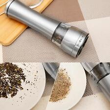 Stainless Steel Electric Kitchen Spice Sauce Salt Pepper Mill Muller Grinder Set