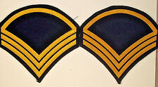 "US Army Band ""Pershing's Own"" Staff Sergeant SSgt Chevrons Rank Pair Rare"
