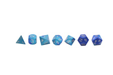 Mystic Wave - Wondrous Dice Set of 7 RPG Dice by Norse Foundry Precision Polyhed
