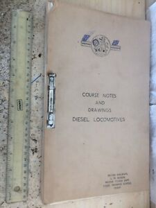 BRITISH RAILWAY LMR 1959 DIESEL LOCO TRAINING COURSE TEXT DIAGS CHARTS DERBY