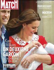 PARIS MATCH n°3598 26/04/2018  2è fils pour Kate&William/ Macron l'ami américain