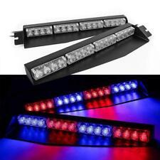 """34"""" 32 LED Car Emergency Warning Visor Split Deck Strobe Light Bar Red Blue Mix"""