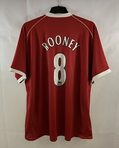 Manchester United Rooney 8 Home Football Shirt 2006/07 Adults 3XL Nike D710