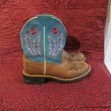 Ariat  Fatbaby Western Cowgirl Roper Cowboy Slip On Leather Boots Sz 8