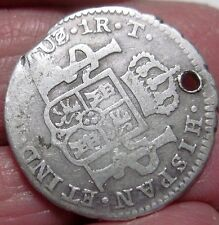 1824 CUZCO -T (PERU) 1 REAL -- BUST --- FERDIND VII (SILVER)   -- EXTRA RARE--