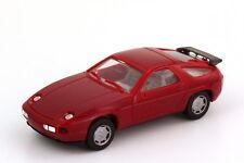 1:87 Porsche 928 S4 dunkelrot rot red Scheinwerfer verchromt - herpa 2071