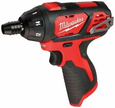 "New ListingMilwaukee Screwdriver M12V 1/4""Hex Cordless Power Tool Only Drill Gun 2401-20"