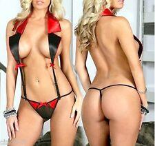 Set ensemble lingerie string+haut costume femme - Hot Sexy halter & string panty