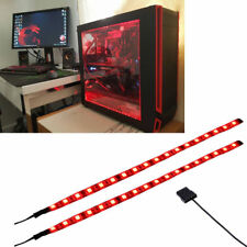 Red LED Light Strip Computer Lighting with Magnetic for Computer Case Lights kit
