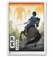 Shadow of the Colossus Japanese Edo Giclee Limited Poster Print Art 12x17 Mondo