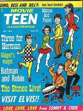 MOVIE TEEN ILLUSTRATED Mag NOVEMBER 1966 Herman STONES Cher ELVIS Gidget BATMAN