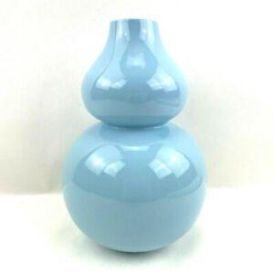 Johnathon Adler Happy Chic Double Gourd Vase Midcentury Modern Light Blue NICE
