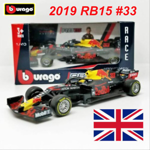 Bburago 2019 1:43 F1 Race Red Bull RB15 #33 Max Verstappen Diecast Model Car NEW