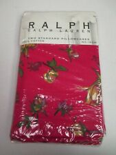 Ralph Lauren Muse Red Rose Floral 2 Standard Pillowcases