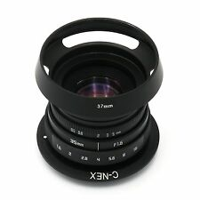 NEW Fujian 35mm f/1.6 CCTV II lens for Sony NEX E-mount camera+C ring NEX+Hood