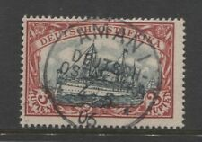 1901 German colonies EAST AFRICA  3 Rupien Yacht used AMANI signed $ 960.00