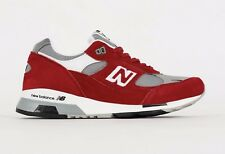 DS NIB MENS NEW BALANCE 991.5 M991.5AA MADE IN ENGLAND SZ 10 RED GREY WHITE FREE
