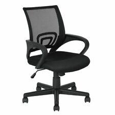 Sedia per ufficio scrivania  Swan girevole imbottita ergonomica design nera