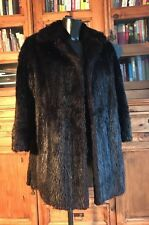 Vintage Genuine Real Fur Coat / Jacket Ladies Mid Length Dark Brown