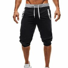 Men 3/4 Knee Length Casual Jogger Sport Shorts Baggy Gym Harem Pants Trousers