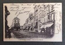 CPA. St GERMAIN en LAYE . 78 - Rue du Vieux Marché. 1904. Librairie. Epicerie..