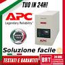 GRUPPO DI CONTINUITA UPS APC BACKUPS 500VA 300W PROTEZIONE TENSIONE PC SICUREZZA