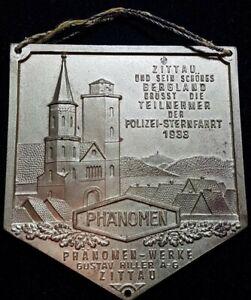 Plakette; Zittau, Sternfahrt 1933, Phänomen- Werke, Gustav Hiller A.G.,