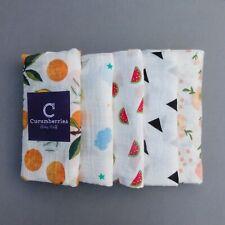 120 cm Large 100% Cotton Muslin Swaddle Blanket Squares Wrap