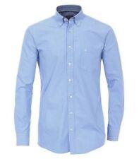 Camicie casual e maglie da uomo blu a righe con button down