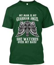 She Watches Over My Back - Mom Is Guardian Angel Back! Hanes Tagless Tee T-Shirt