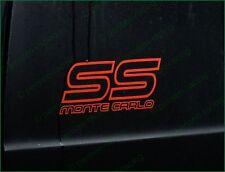 CHEVROLET Monte Carlo SS 1987 1988 Logo Premium Restoration Decals Stickers Set