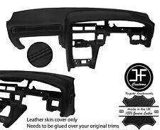 BLACK STITCH DASH DASHBOARD REAL LEATHER COVER FOR TOYOTA SUPRA MK3 86-93 JF1