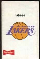 Schedule Basketball Los Angeles Lakers - 1990 1991 - Budweiser