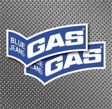 "2x 5"" Gas blue jeans decals stickers factory Repsol Aufkleber adhesivo MOTO GP"