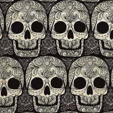 WICKED SKULLS HALLOWEEN FABRIC