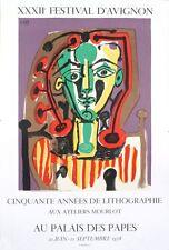 Palais des Papes, Tete de Femme by Pablo Picasso 1978 Lithograph Art Print