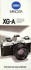 MINOLTA XG-A SLR 35mm CAMERA BROCHURE -MINOLTA XGA  CAMERA