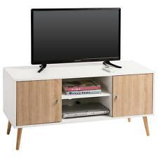 B-Ware TV Lowboard TV Rack Fernsehkommode weiss Sonoma Eiche 2.Wahl Neuware