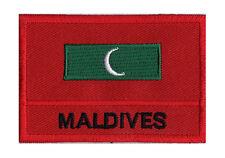 Écusson patche drapeau patch à coudre MALDIVES 70 x 45 mm Pays Monde Souvenir