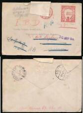 EGYPT MEF WW2 METER FRANKING from LONDON REDIRECTED 1941 EMBOSSED FLAP PHOENIX