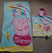 2 Peppa Pig Beach Towels. Personalised For Madison