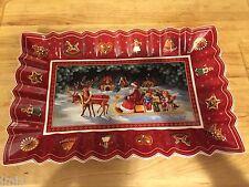 Villeroy & Boch TOY'S FANTASY Sleigh Ride Rectangular Cake Plate  #2227