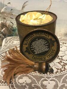 "Kama Sutra 8 Oz Honey Dust Powder w/Feather Original ""TOUCH IT SOFTLY"" NOS"