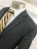 Jos A. Bank Travelers Collection Men's Sharkskin Wool Dark Gray Sport Coat 42 R