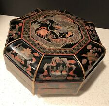 New listing Antique Chinese Lacquerware Large Wedding Box, Qing Dynasty