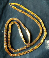 22K Gold Plated Indian 40'' total Long Chain High Quality Bridal Set Party ab