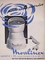 PUBLICITÉ DE PRESSE 1958 MOULIN A CAFÉ MOULINEX - ADVERTISING