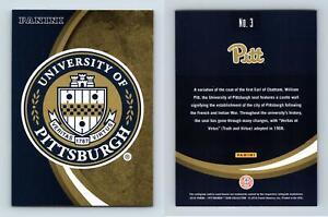 University Of Pittsburgh #3 Pittsburgh Panthers Collegiate 2016 Panini Card