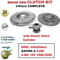 FOR OPEL VAUXHALL ZAFIRA A 2.0Di 2.0di 16V 1999-2005 NEW 3PC CLUTCH KIT with CSC